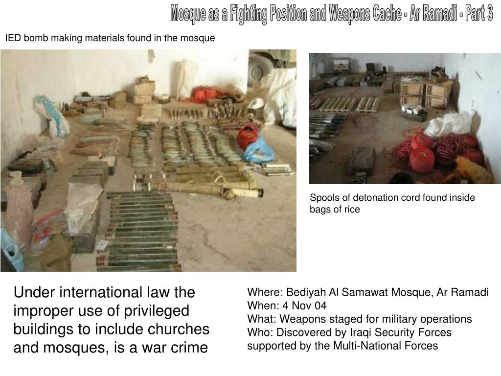 Mosque as a Fighting Position and Weapons Cache - Ar Ramadi - Part 3