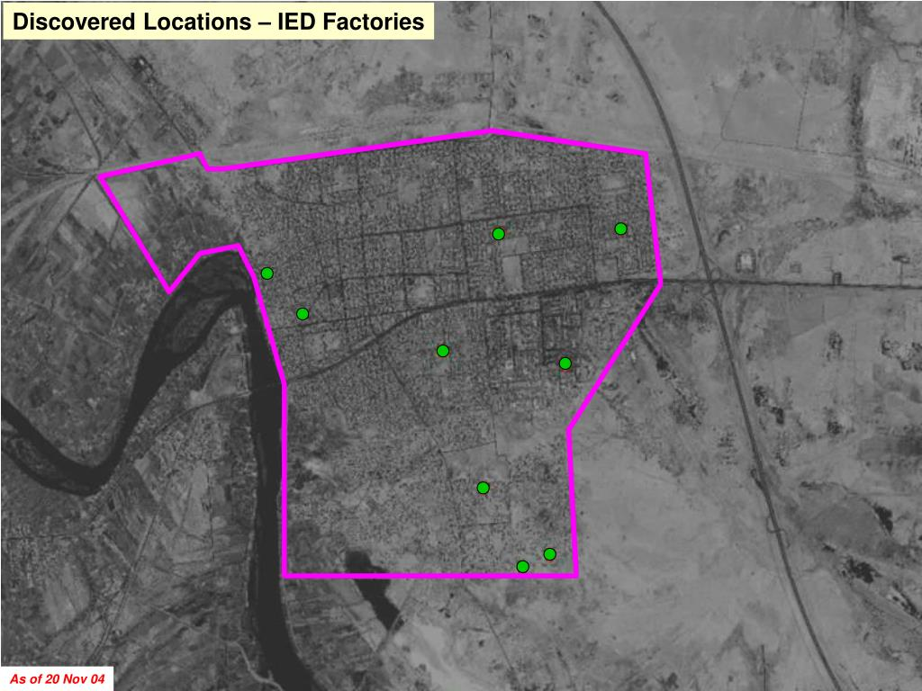 Discovered Locations – IED Factories