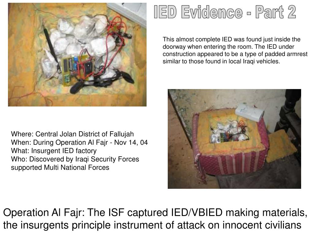 IED Evidence - Part 2