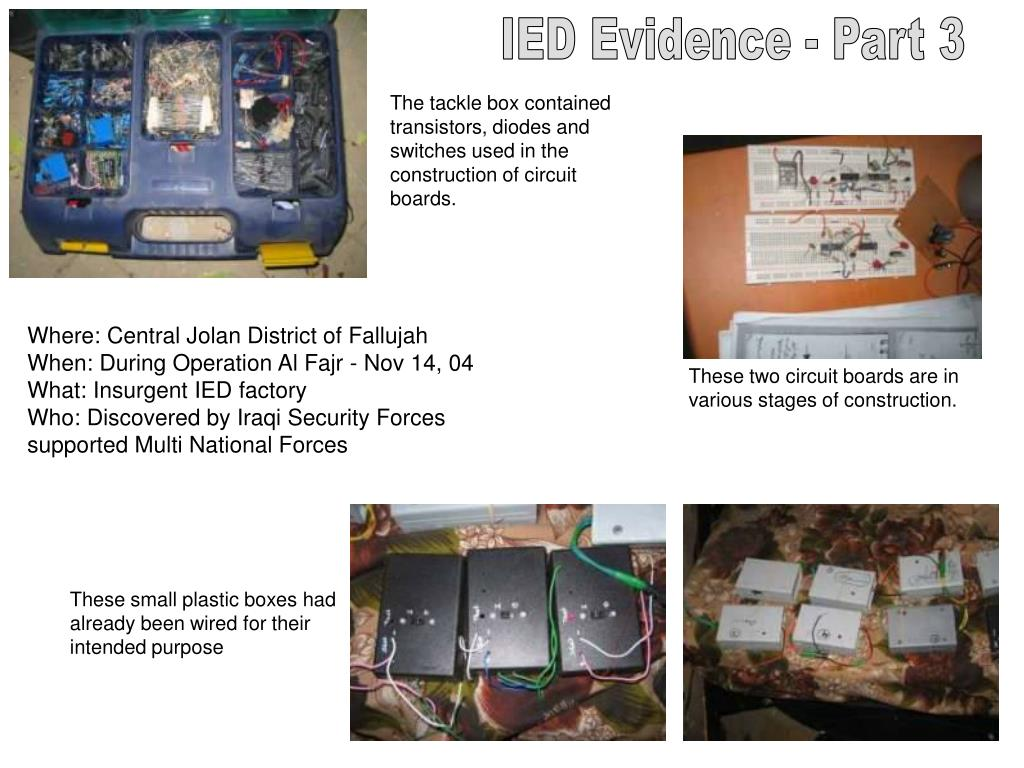 IED Evidence - Part 3