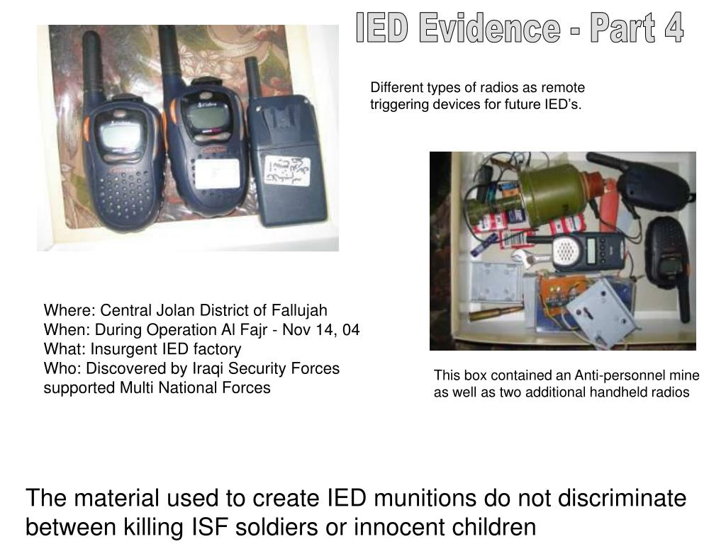 IED Evidence - Part 4