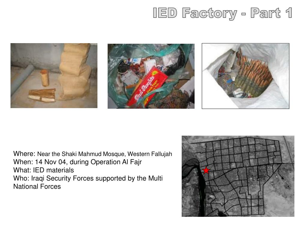 IED Factory - Part 1