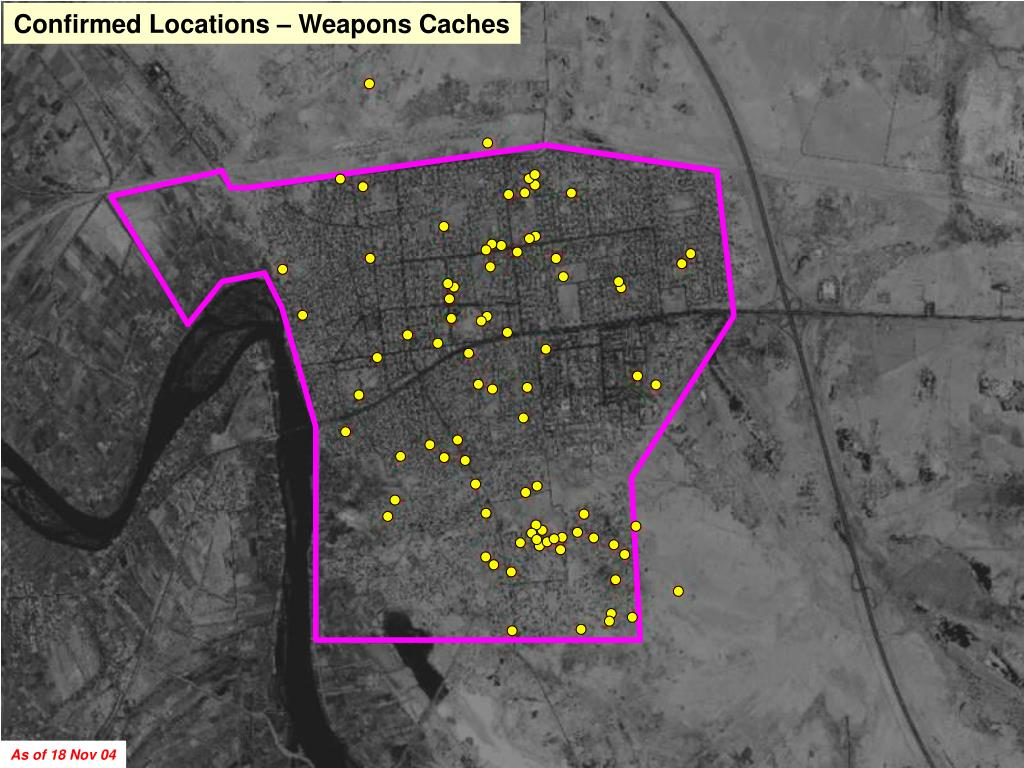 Confirmed Locations – Weapons Caches