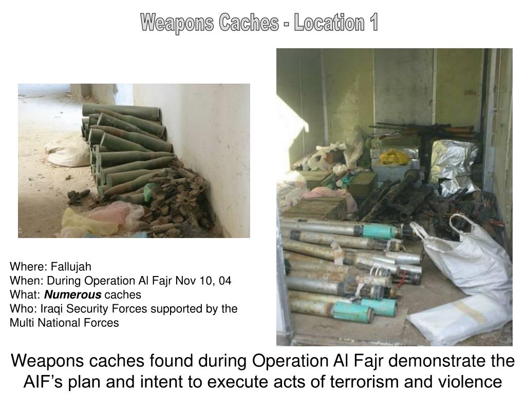 Weapons Caches - Location 1