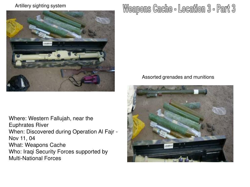 Artillery sighting system