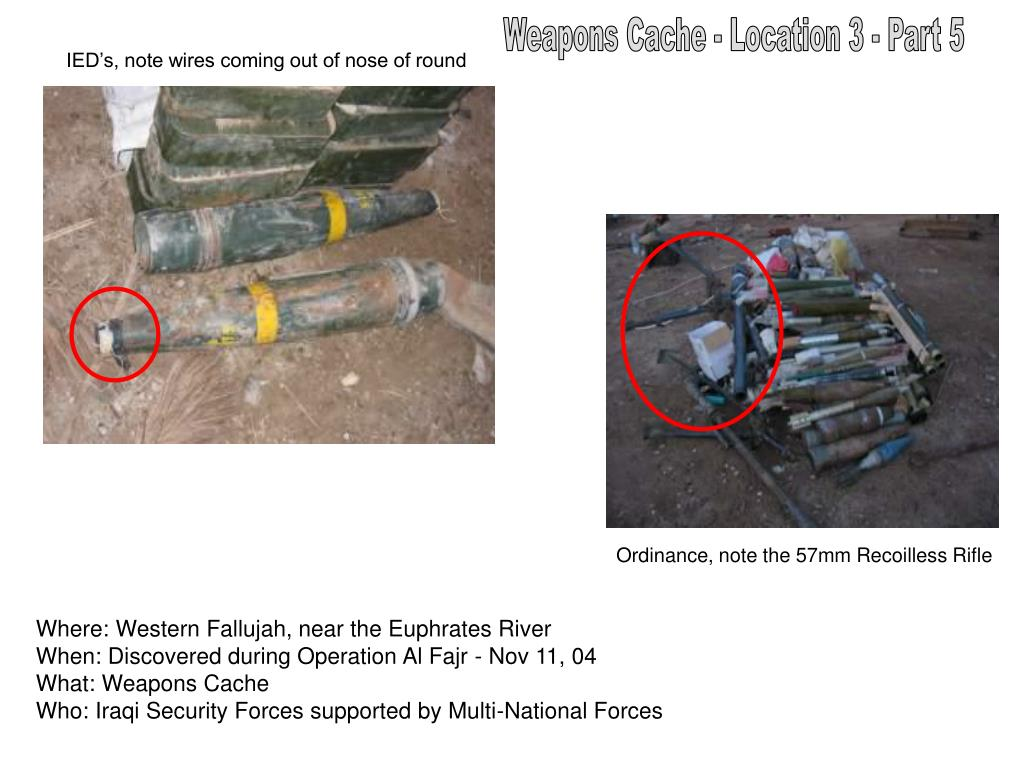 Weapons Cache - Location 3 - Part 5