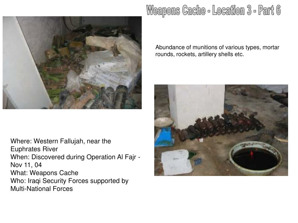 Weapons Cache - Location 3 - Part 6