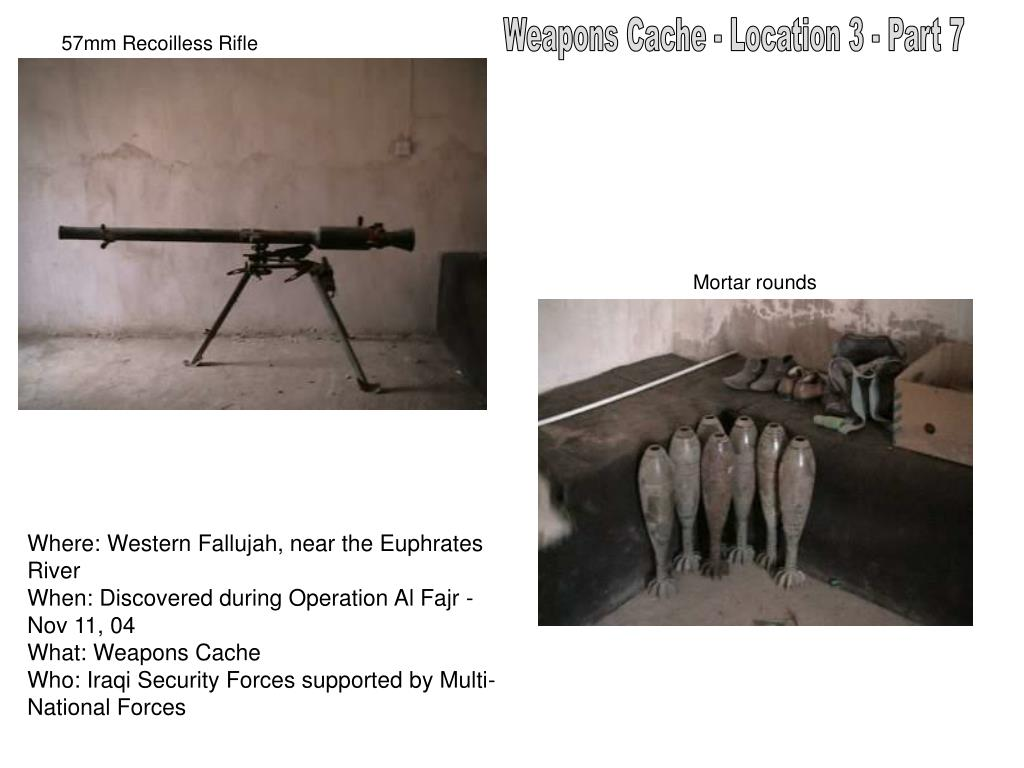 Weapons Cache - Location 3 - Part 7