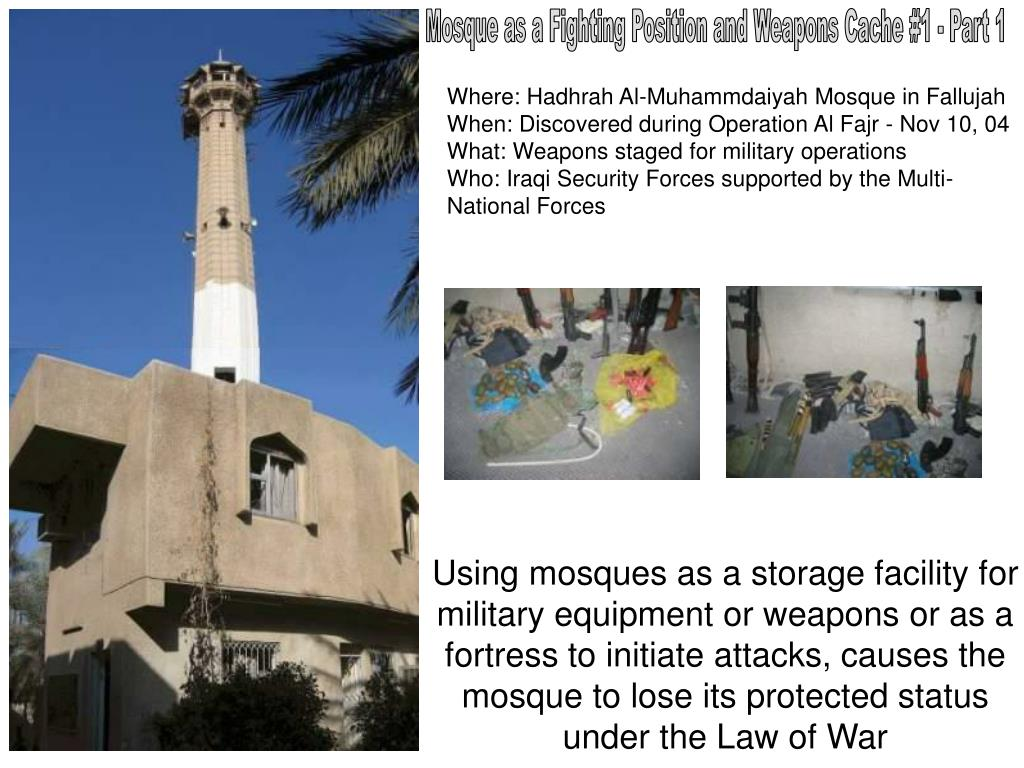 Mosque as a Fighting Position and Weapons Cache #1 - Part 1