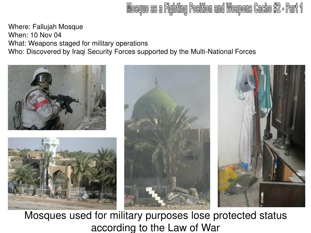 Mosque as a Fighting Position and Weapons Cache #2 - Part 1