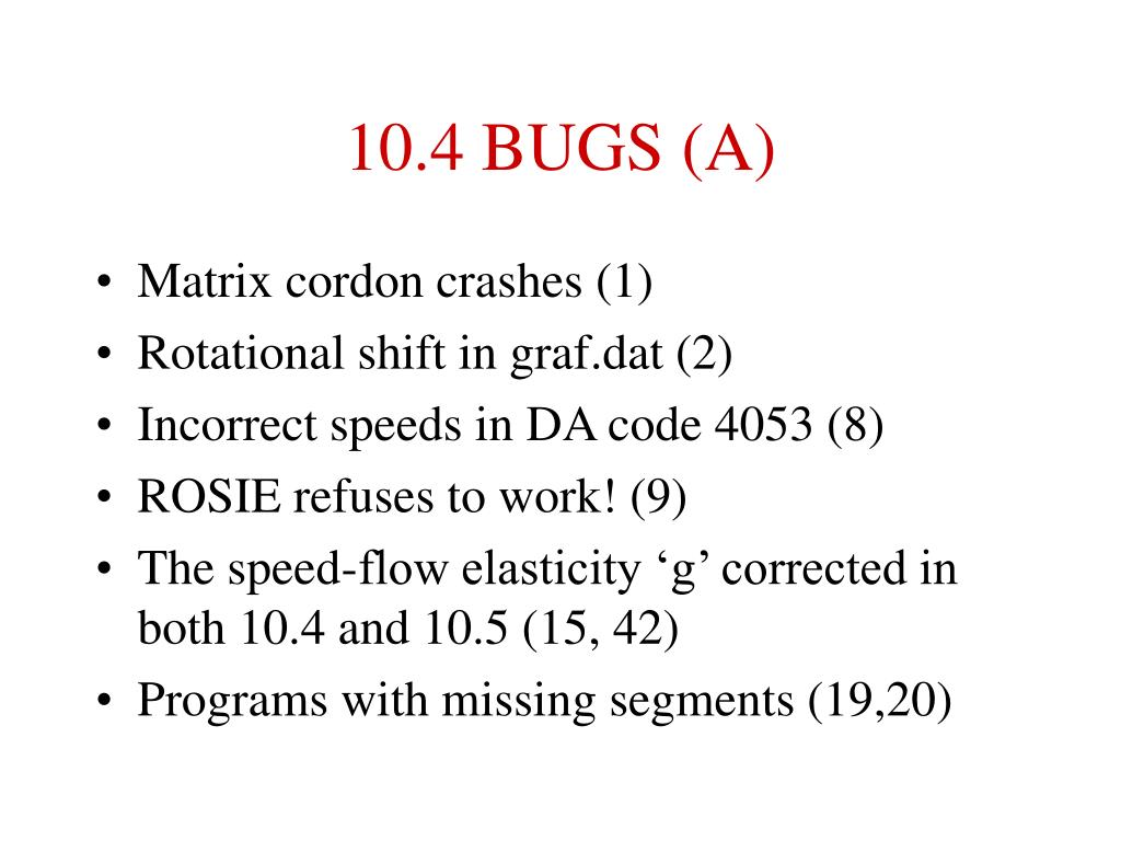10.4 BUGS (A)