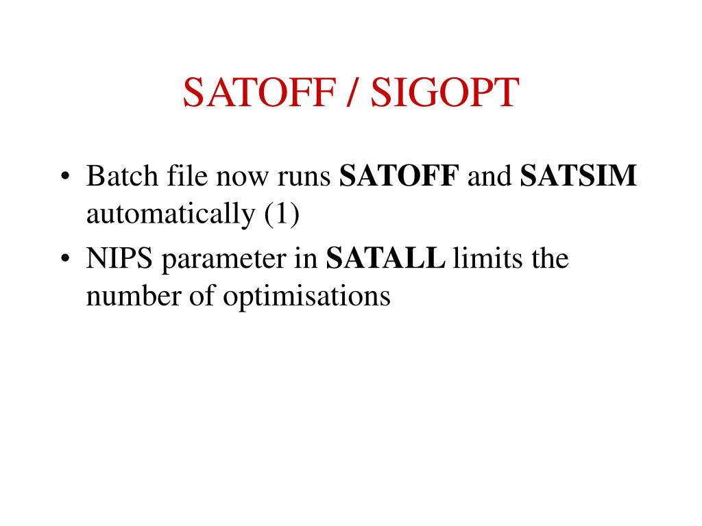 SATOFF / SIGOPT