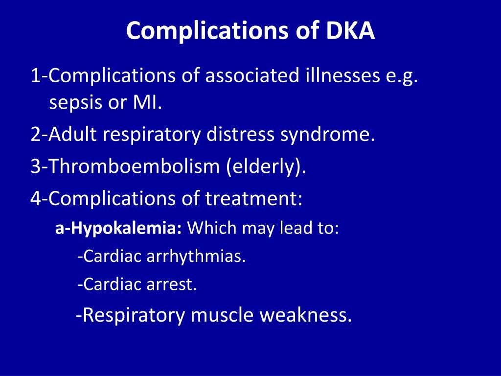 Complications of DKA