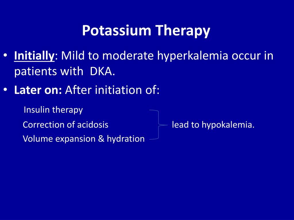 Potassium Therapy