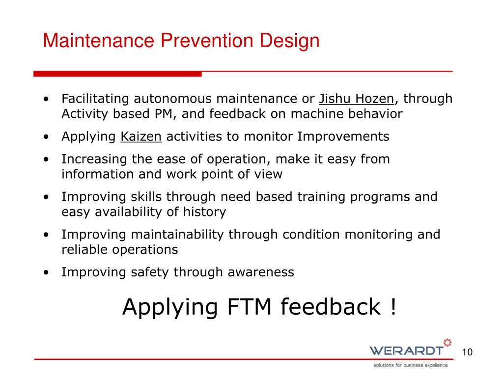 Maintenance Prevention Design
