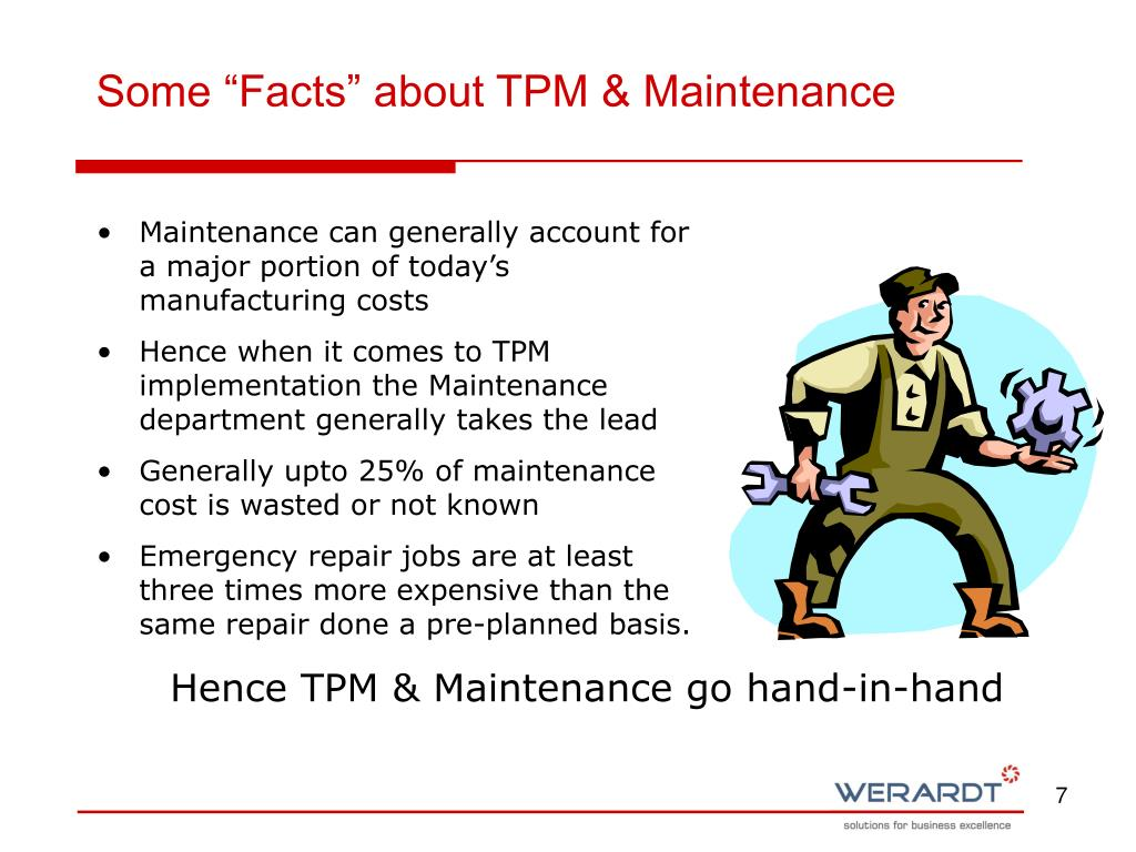 "Some ""Facts"" about TPM & Maintenance"