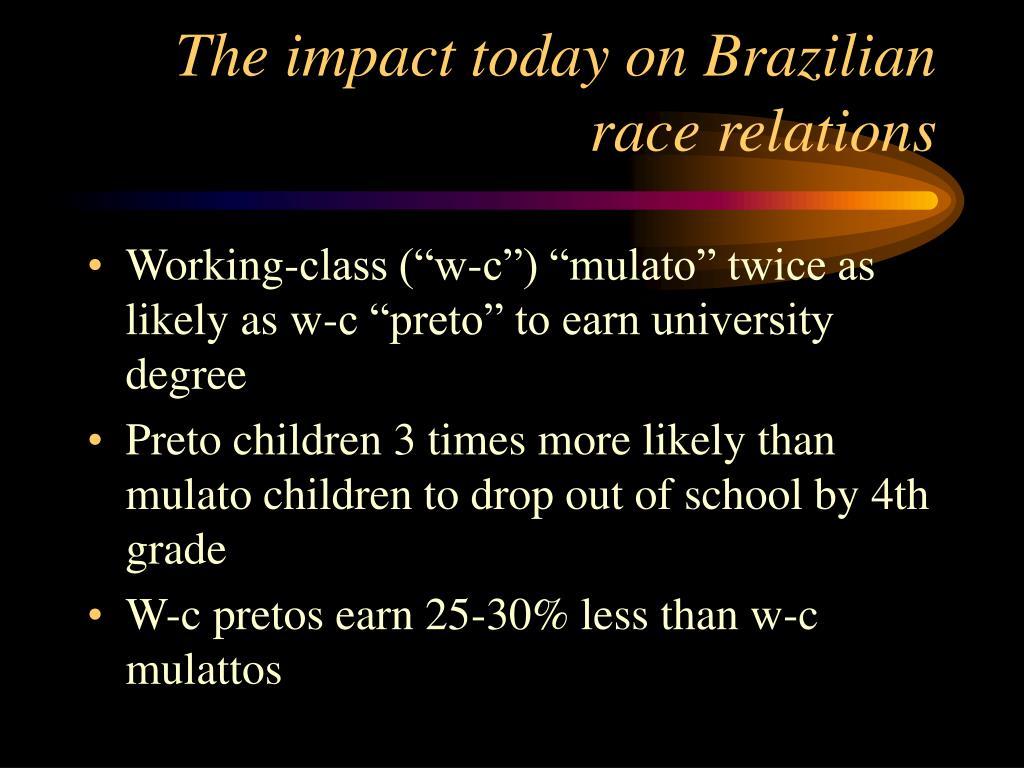 The impact today on Brazilian race relations