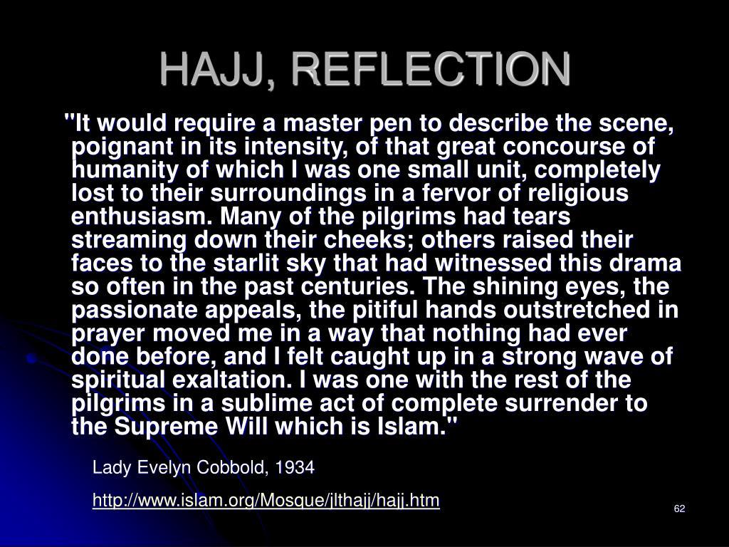 HAJJ, REFLECTION