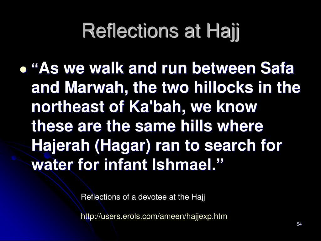 Reflections at Hajj