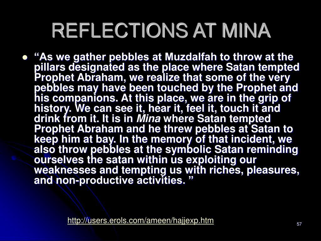 REFLECTIONS AT MINA