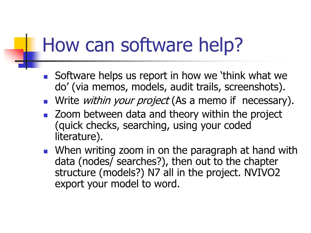 How can software help?