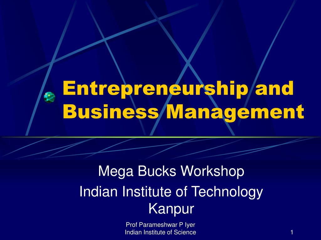 Entrepreneurship and Business Management