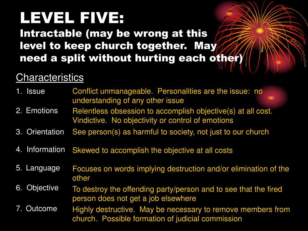 LEVEL FIVE: