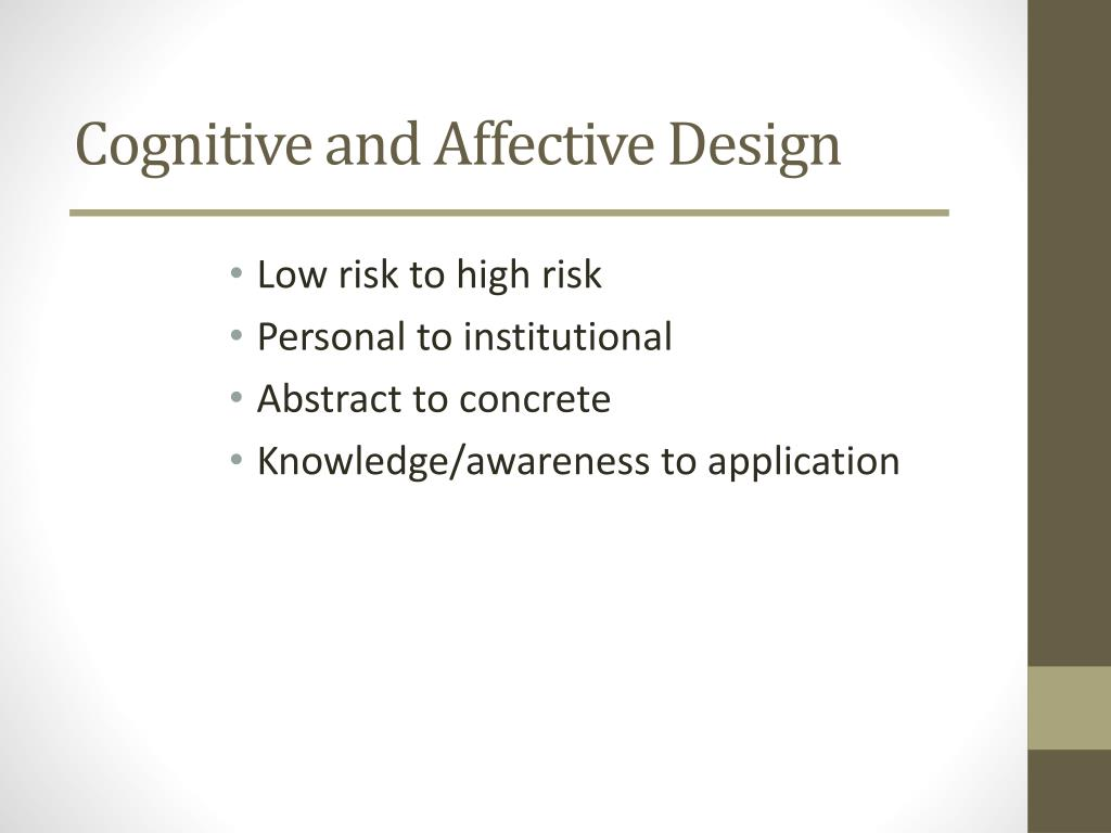 Cognitive and Affective Design