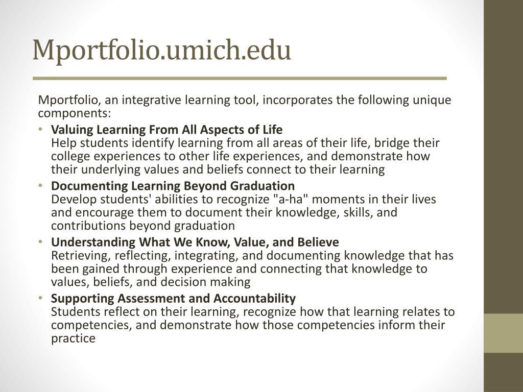 Mportfolio.umich.edu