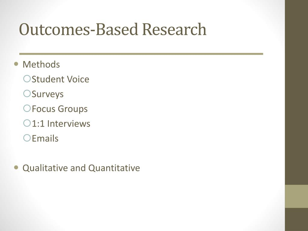 Outcomes-Based Research