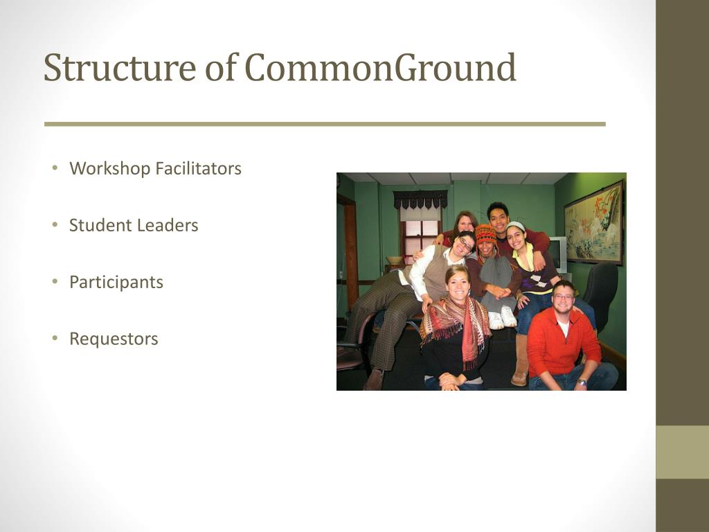 Structure of CommonGround