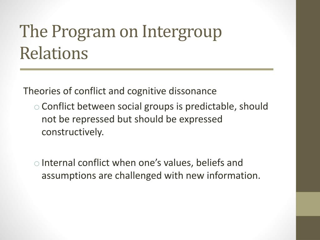 The Program on Intergroup Relations