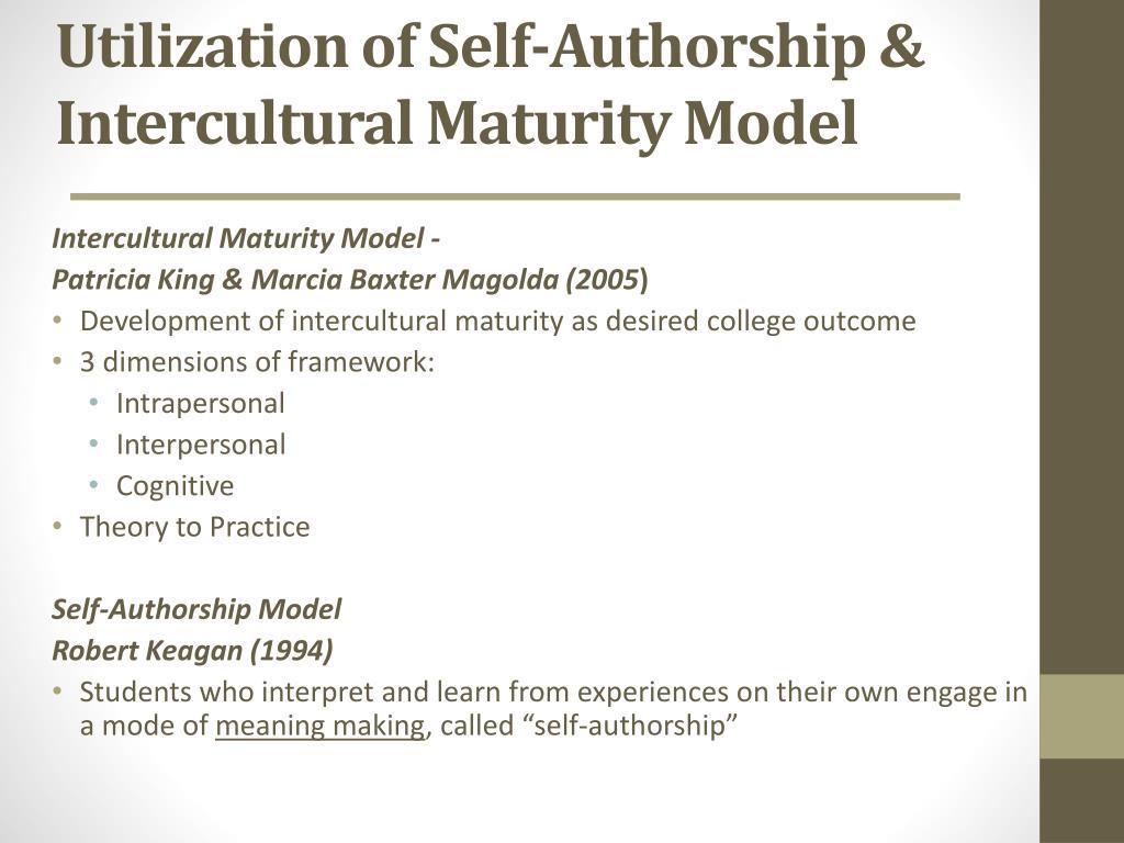 Utilization of Self-Authorship &