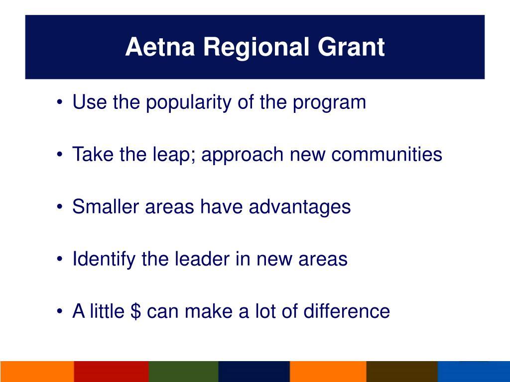 Aetna Regional Grant