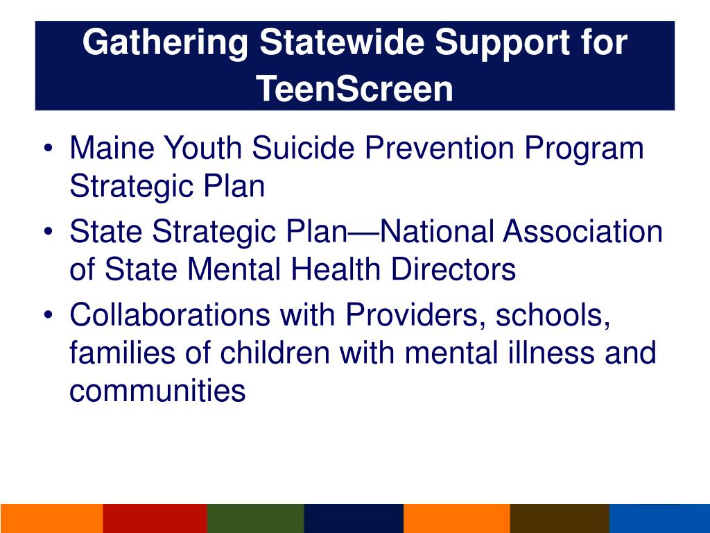 Gathering Statewide Support for TeenScreen