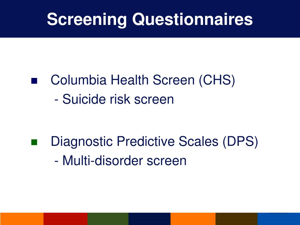 Screening Questionnaires