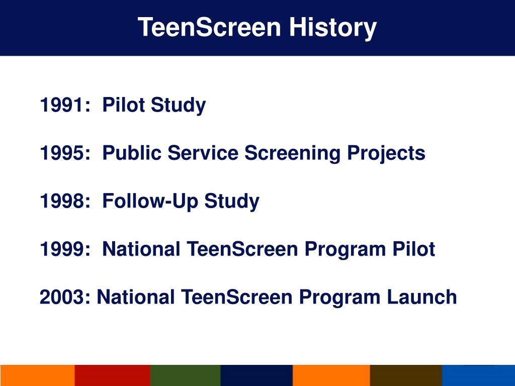 TeenScreen History