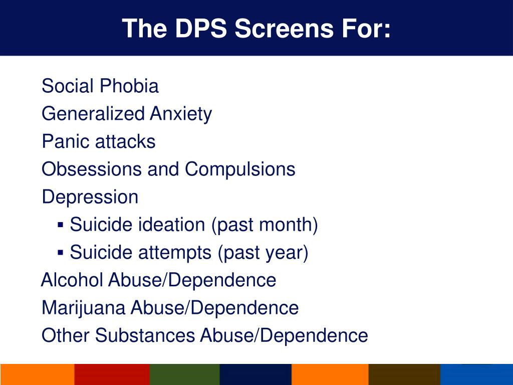 The DPS Screens For:
