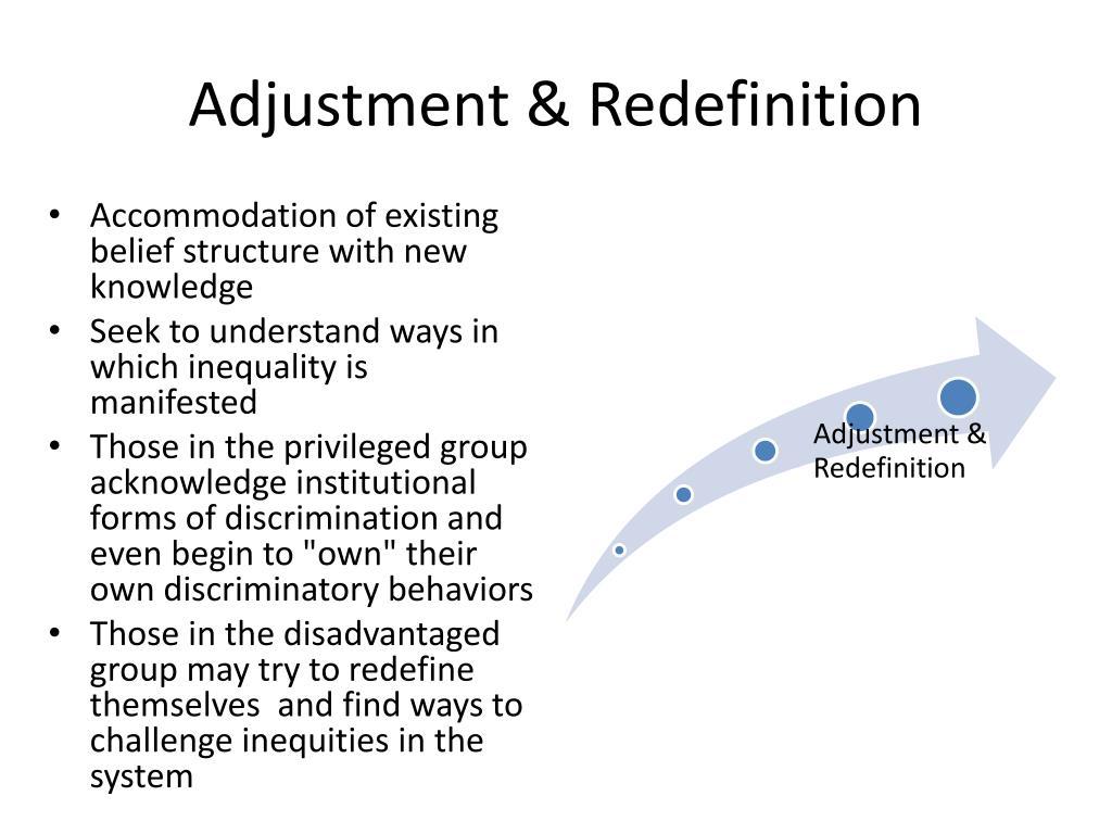 Adjustment & Redefinition