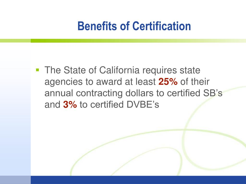 Small business dvbe certification