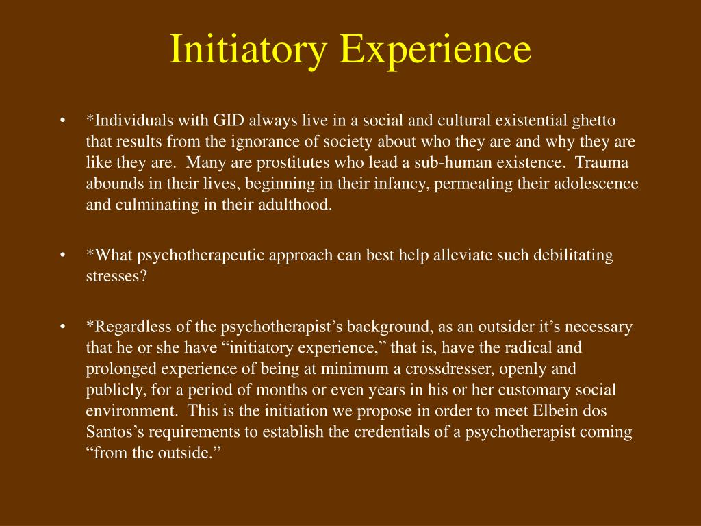 Initiatory Experience