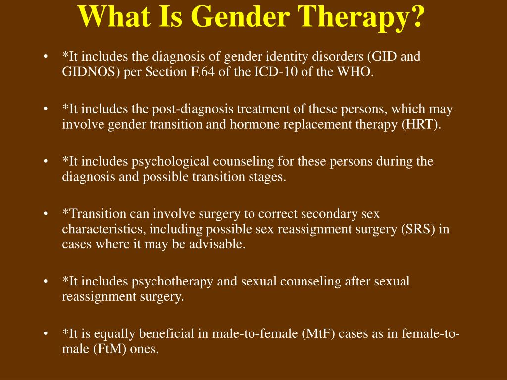 What Is Gender Therapy?