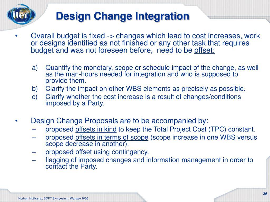 Design Change Integration