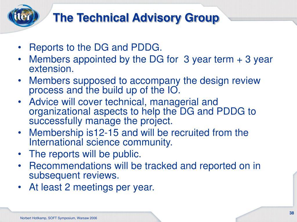 The Technical Advisory Group