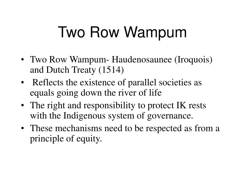 Two Row Wampum