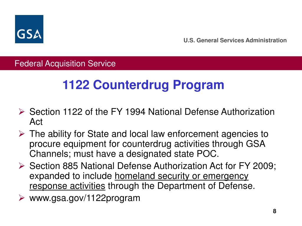 1122 Counterdrug Program