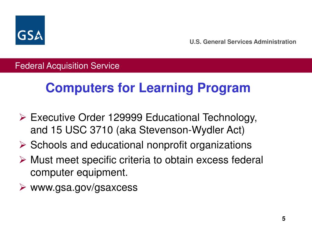 Computers for Learning Program