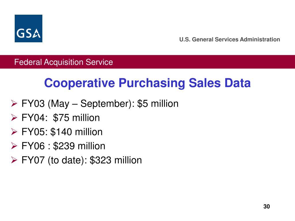 FY03 (May – September): $5 million