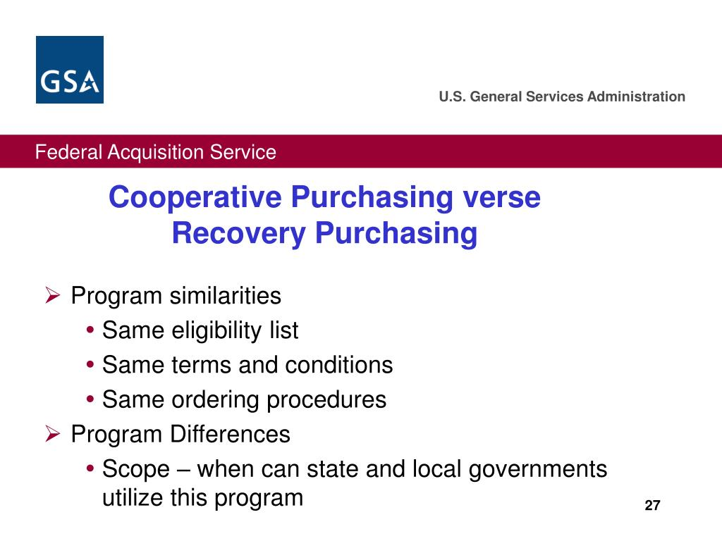 Cooperative Purchasing verse