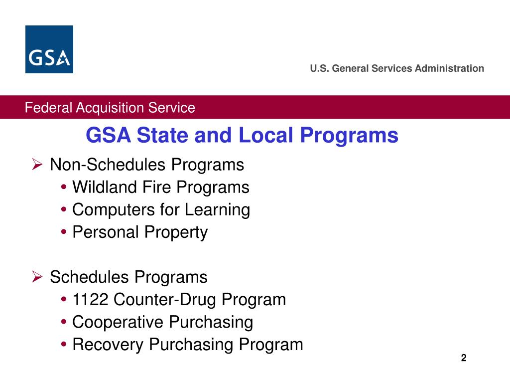 GSA State and Local Programs